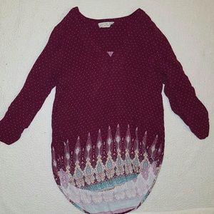 Pink Republic High Low Bohemian Shirt